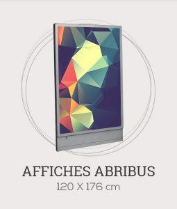 Affiche publicitaire au format Abribus - 120x176 cm