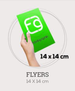 Flyers carré au format 140x140 mm