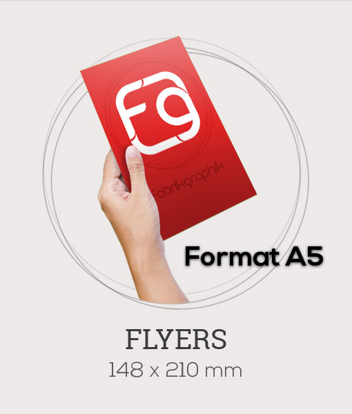 Flyers au format A5 - 148x210 mm