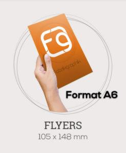 Flyers au format A6 - 105x148 mm