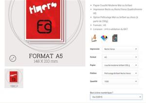 Page produit flyers