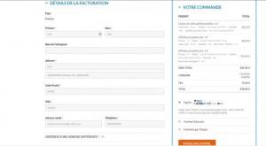 Page commande et choix paiement