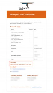 mail confirmation de commande