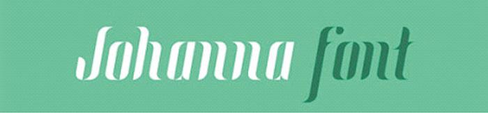 Typo gratuite johanna font