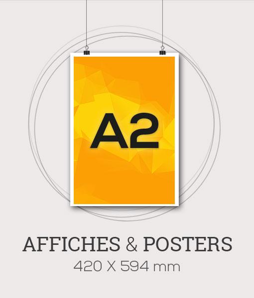 Affiche publicitaire au format A2 - 420x594 mm