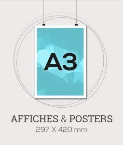Affiche publicitaire au format A3 - 297x420 mm