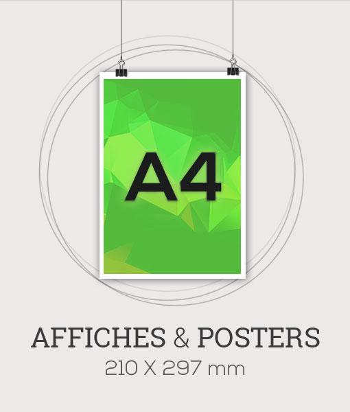 Affiche publicitaire au format A4 - 210x297 mm