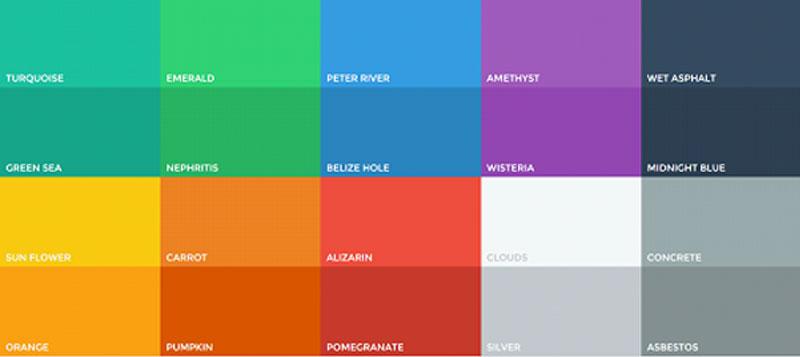 grille de couleur Flat